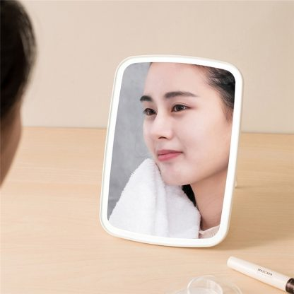 Portable Makeup Mirror LED Natural Light USB Refill Angle Adjustable Touch Control Brightness Dimmable Lights Women 1
