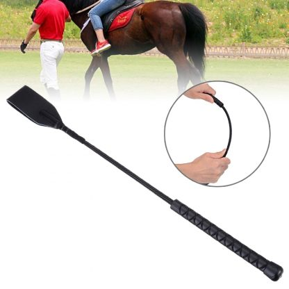 Faux Leather Horsewhips Equestrian Horseback Riding Whips Training Supplies 45CM Portable Lightweight Cosplay Toys 5