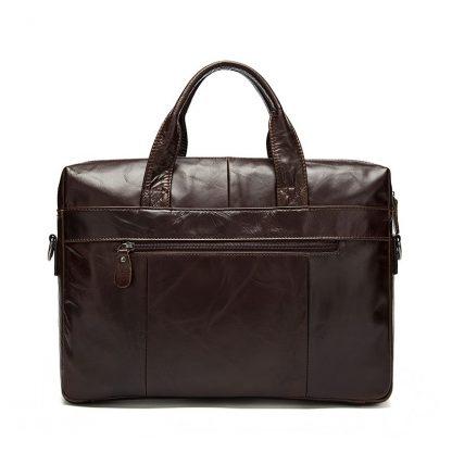 MVA Leather Briefcases men laptop male messenger bag Men's Genuine leather shoulder bags briefcase for documents  handbag 9005 1