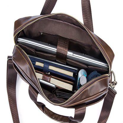 WESTAL Bag men's Genuine Leather briefcase Male man laptop bag natural Leather for men Messenger bags men's briefcases 2019 4