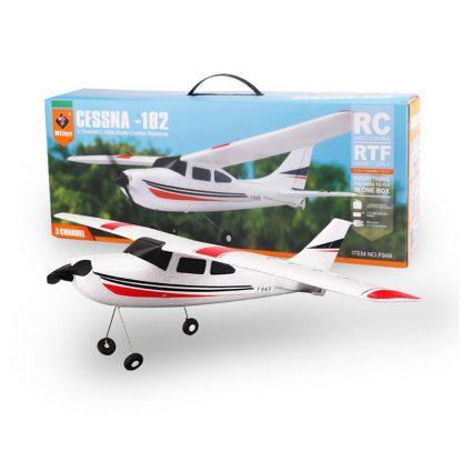 Wltoys F949 CESSNA-182 3 Channel 2.4G Control Airplane RC Airplane EPP Model Plane RTF 3 Coreless Motor Outdoor Drone Kids  FSWB 1