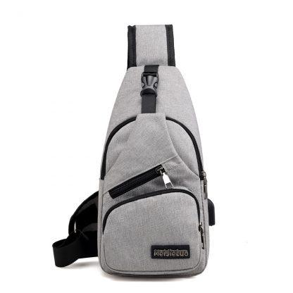Male Shoulder Bags USB Charging Crossbody Bags Men Anti Theft Chest Bag School Summer Short Trip Messengers Bag 2019 New Arrival 4