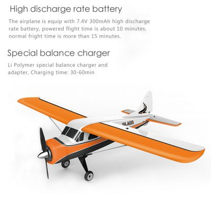 XK DHC-2 A600 4CH 2.4G Brushless Motor 3D6G RC Airplane 6 Axis Glider Remote Control Aircraft Toy Child Birthday Present 1