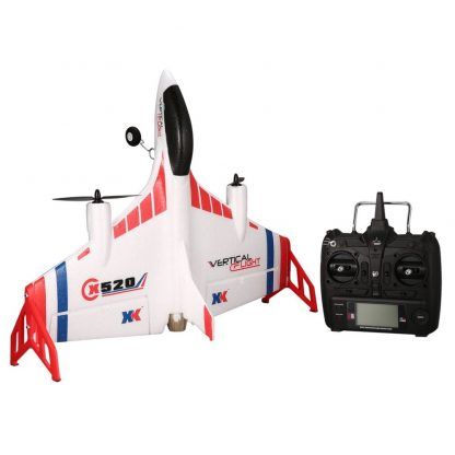 XK X520 6CH 3D/6G RC Airplane Toy VTOL Vertical Takeoff Land Delta Wing RC Dron Fixed Wing Plane with Mode Switch LED Light Gift 3