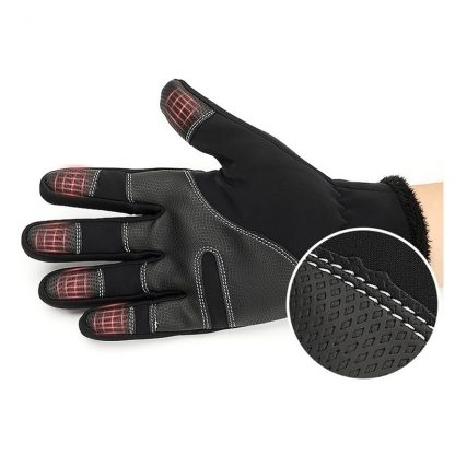 Professional Touch Screen Equestrian Rider Gloves Men Women Child Horse Riding Gloves Size S/M/L/XL/XXL Black and Gray 4