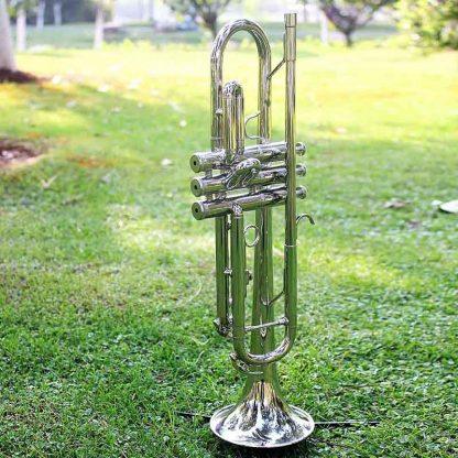 입문용 연습용SLADE Professional Trumpet Import Brass Silver Trumpet Digital Mechanical Welding Pipe Music Adopts Brass Musical Instruments 5