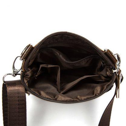 WESTAL Messenger Bag Men's Shoulder Genuine Leather bags Flap Small male man Crossbody bags for men natural Leather bag M701 4