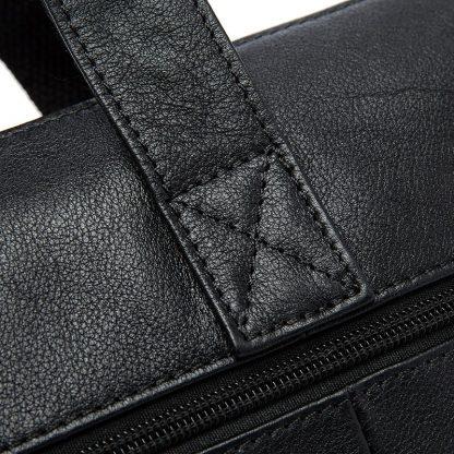 WESTAL Men Briefcases Genuine Leather Men's Bag Business Briefcases laptop Handbags Messenger Bag Men Leather Office Bag 9013 4