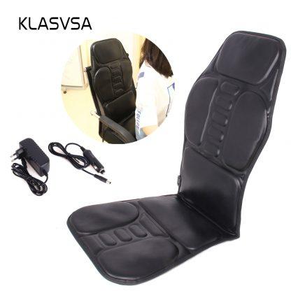 차량용 의자용KLASVSA Electric Back Massager Chair Cushion Vibrator Portable Home Car Office Neck Lumbar Waist Pain Relief Seat Pad Relax Mat 1