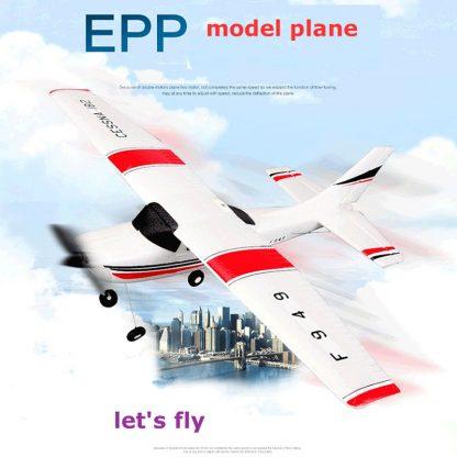 Wltoys F949 CESSNA-182 3 Channel 2.4G Control Airplane RC Airplane EPP Model Plane RTF 3 Coreless Motor Outdoor Drone Kids FSWB