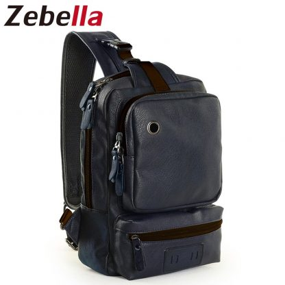 Zebella Brand Men's Shoulder Bag Vintage Men Crossbody Bag Men Chest Bags Casual Fashion PU Leather Men Messenger Bag  1