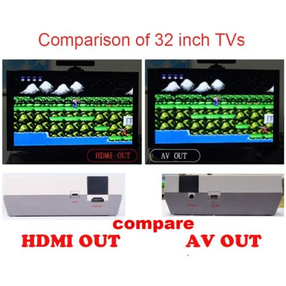 Dropshipping HDMI/AV Output Mini TV Handheld Retro Video Game Console with Classic 500 games Built-in for 4K TV PAL & NTSC 1