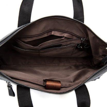 WESTAL Men Briefcases Genuine Leather Men's Bag Business Briefcases laptop Handbags Messenger Bag Men Leather Office Bag 9013 5