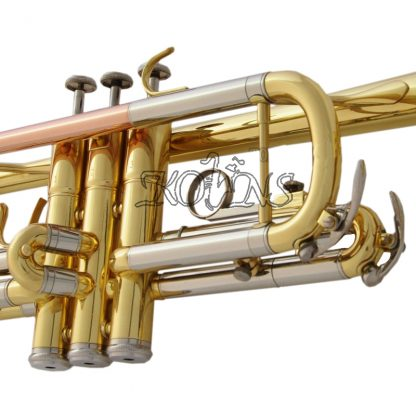 Top New Gold C Key Trumpet with Cupronickel Tuning pipe horn With Case 2