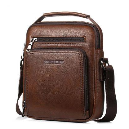 Casual Men Crossbody Bags Pu Leather Messenger Bag Designer Men Handbag Top Quality Male Shoulder Bags WBS502 3