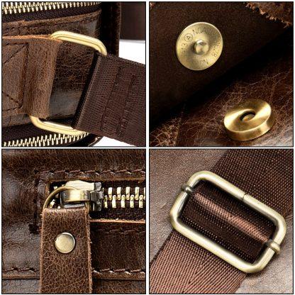 MVA Shoulder Bag for Men Men's Genuine Leather Bag Vintage Messenger Bags Men Leather Small Crossbody Bags for ipad handbag 1121 4