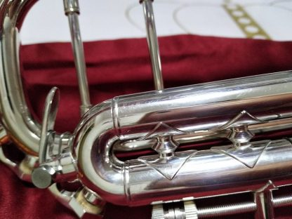 Bach AB-190S Brand Quality Bb Trumpet Brass Tube Silver Plated Professional Musical Instruments With Case Mouthpiece Accessories 3