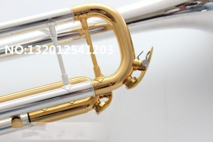 quality Bach Trumpet Original Silver plated GOLD KEY LT180S-72 Flat Bb Professional Trumpet bell Top musical instruments Brass  4