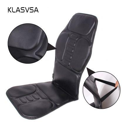 차량용 의자용KLASVSA Electric Back Massager Chair Cushion Vibrator Portable Home Car Office Neck Lumbar Waist Pain Relief Seat Pad Relax Mat 2