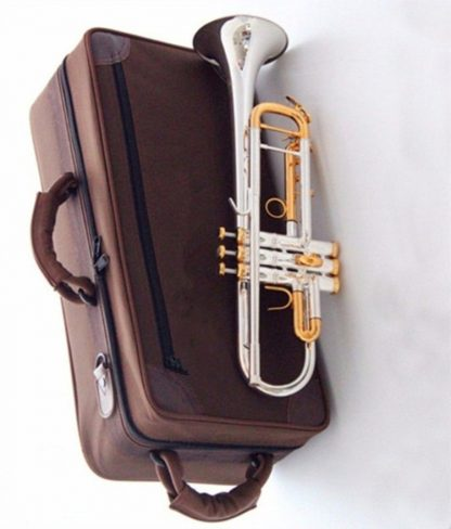 High-quality Bach Trumpet LT180S-72 silver-Plated  Professional Flat Bb Trumpet Bell Top Brass Musical Instruments free case