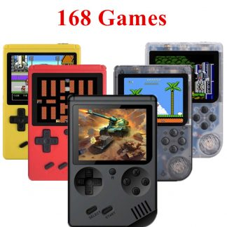 Coolbaby Retro Portable Mini Handheld Game Player Console 8-Bit 3 Inch Color LCD Kids Color Game Player Built-in 168 Video games
