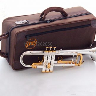 quality Bach Trumpet Original Silver plated GOLD KEY LT180S-72 Flat Bb Professional Trumpet bell Top musical instruments Brass