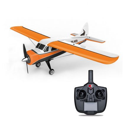 XK DHC-2 A600 4CH 2.4G Brushless Motor 3D6G RC Airplane 6 Axis Glider Remote Control Aircraft Toy Child Birthday Present