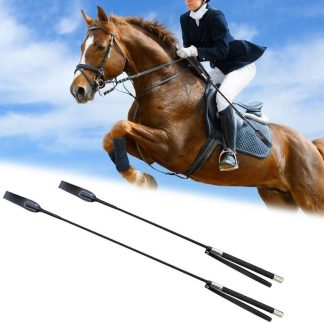 51CM 65CM Leather Horse Whip Equestrian Horseback Racing Riding Whips Handle Flogger Lash Supplies