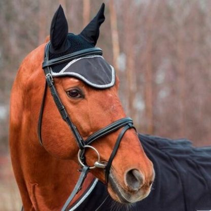 Horse riding breathable mesh horse earmuffs luminous equestrian competition horse equipment flying mask cap ear horse protection