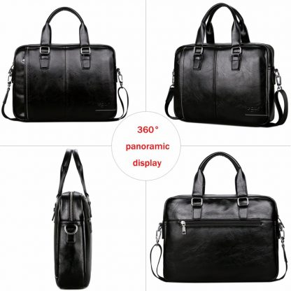 VICUNA POLO New Arrival High Quality Leather Man Messenger Bag With Front Pocket Brand Men's Briefcases Business Men Handbag 3