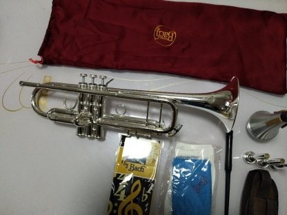 Bach AB-190S Brand Quality Bb Trumpet Brass Tube Silver Plated Professional Musical Instruments With Case Mouthpiece Accessories 1