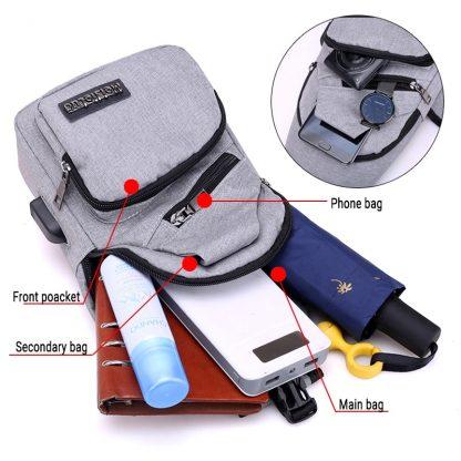 Male Shoulder Bags USB Charging Crossbody Bags Men Anti Theft Chest Bag School Summer Short Trip Messengers Bag 2019 New Arrival 1