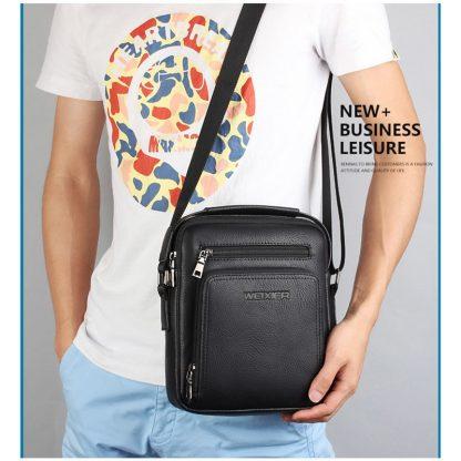 Casual Men Crossbody Bags Pu Leather Messenger Bag Designer Men Handbag Top Quality Male Shoulder Bags WBS502 2