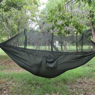 Double Person Travel Outdoor Camping Tent Hanging Hammock Bed & Mosquito Net Green