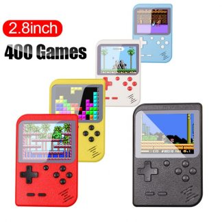 Video Game Console 8 Bit Retro Mini Pocket Handheld Game Player Built-in 400 Classic Games Best Gift for Child Nostalgic Player