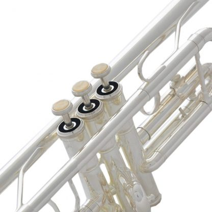 Top New Silver Plated  C Key Trumpet with Cupronickel Tuning pipe horn With Case 1