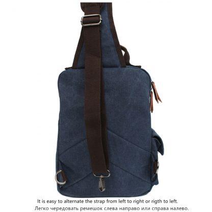 Tourya Canvas Crossbody Bags for Men Women Retro Leather Military Messenger Chest Bag Shoulder Sling Bag Large Capacity Handbag 3