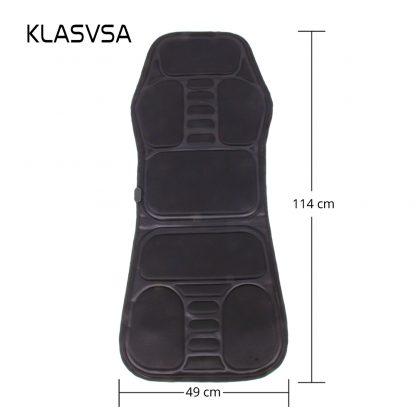 차량용 의자용KLASVSA Electric Back Massager Chair Cushion Vibrator Portable Home Car Office Neck Lumbar Waist Pain Relief Seat Pad Relax Mat 5