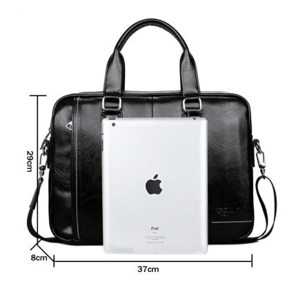VICUNA POLO New Arrival High Quality Leather Man Messenger Bag With Front Pocket Brand Men's Briefcases Business Men Handbag 2