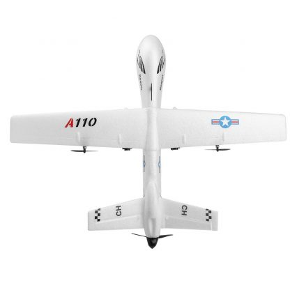 XK A110 EPP 565mm Wingspan 2.4G 3CH DIY Glider Plane Kids Gift Toy RC Airplane Outdoor RTF Built-in Gyro Interesting Toys 3