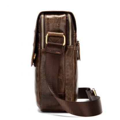 MVA Shoulder Bag for Men Men's Genuine Leather Bag Vintage Messenger Bags Men Leather Small Crossbody Bags for ipad handbag 1121 2