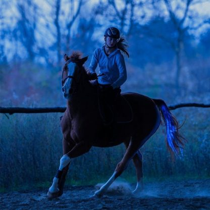 New 100CM Horse Tail USB Lights Chargeable LED Crupper Horse Harness Equestrian Outdoor Sports The Lights Horse Tail 4