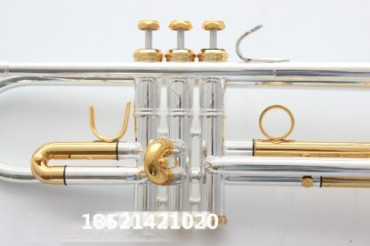quality Bach Trumpet Original Silver plated GOLD KEY LT180S-72 Flat Bb Professional Trumpet bell Top musical instruments Brass  3