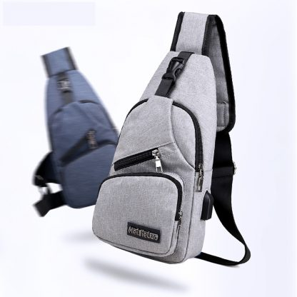 Male Shoulder Bags USB Charging Crossbody Bags Men Anti Theft Chest Bag School Summer Short Trip Messengers Bag 2019 New Arrival 2