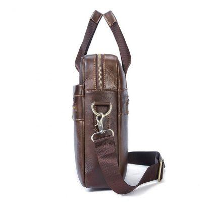 WESTAL Bag men's Genuine Leather briefcase Male man laptop bag natural Leather for men Messenger bags men's briefcases 2019 1
