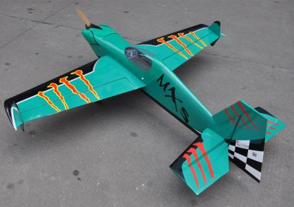 MXS-R 20cc 3D Balsa Wood Fixed Wing RC Airplane Model Aircraft 64 1