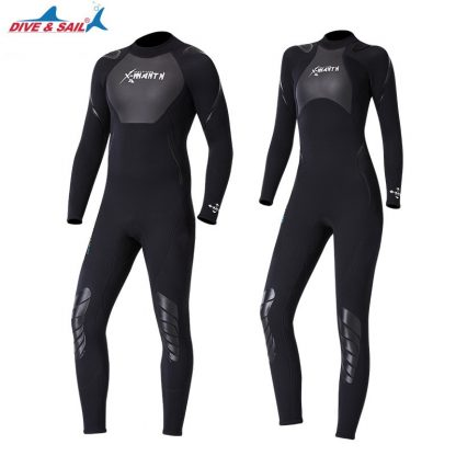 New 3mm Neoprene+Shark Skin Patchwork Wet Suit for Men Women Diving Scuba Snorkeling Surfing Keep Warm Anti-scratch UPF50+