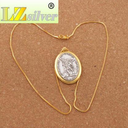 Catholic Patron Saint Pendant Michael St. Michael the Archangel 2inch Pendant Necklace 24 Chain N1779 10PCS  2