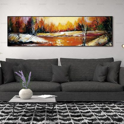wall picture art landcape art print trees Posters picture wall art Painting decoration for living room no frame canvas painting 1
