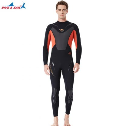Full-body Men 3mm Neoprene Wetsuit Surfing Swimming Diving Suit Triathlon Wet Suit for Cold Water Scuba Snorkeling Spearfishing 4